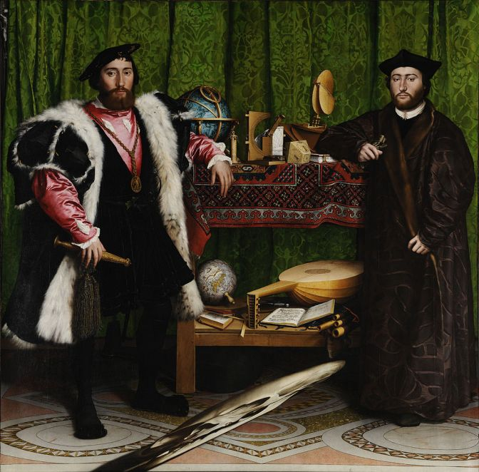 The Ambassadors (1533) Hans Holbein the Younger