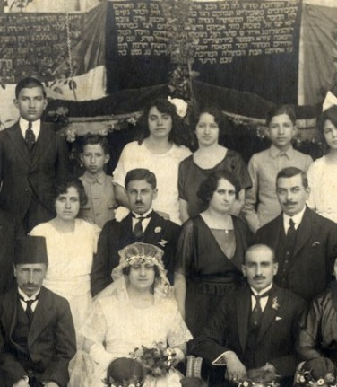A Jewish wedding in Aleppo, Syria in 1914.jpg