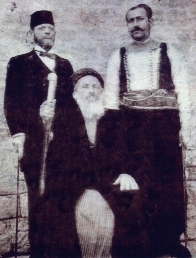 Chief Rabbi Jacob Saul Dwek, Hakham Bashi of Aleppo, Syria, 1907.jpg